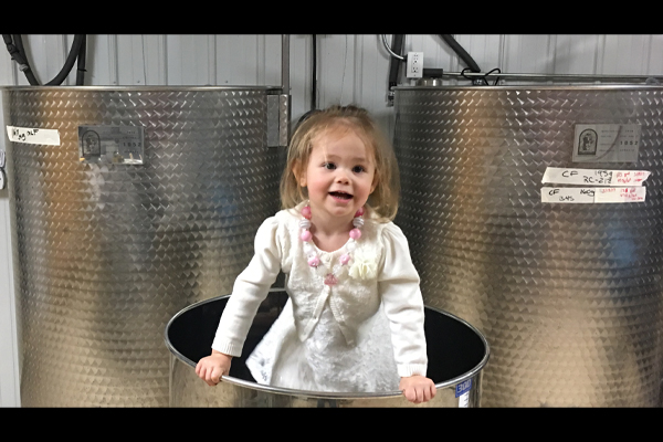 Evie Stomping Grapes