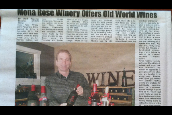 Owner Craig Fletcher in newspaper article